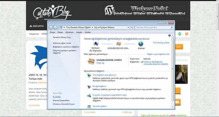 Windows 7 Dosya Paylaşımında Şifre Sormayı Kaldırma