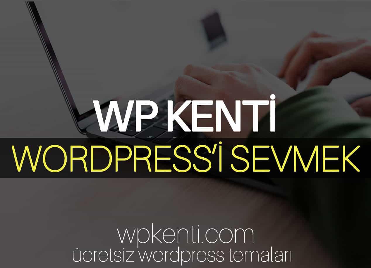 WordPress'i Sevmek