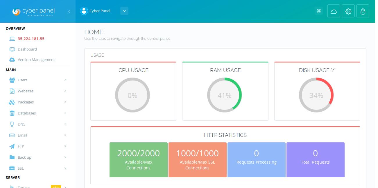 Cpanel Ücretsiz Alternatif CyberPanel Kurulumu